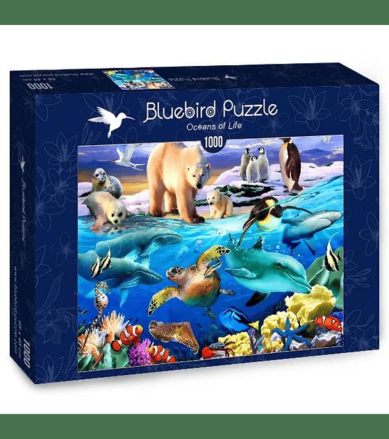 Puzzle 1000 Pcs - Oceans of Life Bluebird