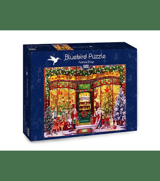 Puzzle 1000 Pcs - Festive Shop Bluebird