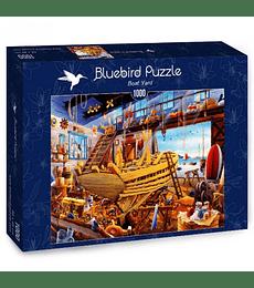 Puzzle 1000 Pcs - Boat Yard Bluebird