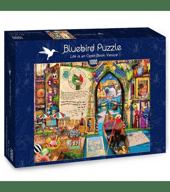 Puzzle 1000 Pcs - Life is an Open Book Venice Bluebird