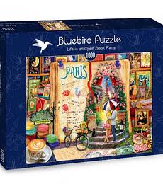 Puzzle 1000 Pcs - Life is an Open Book Paris Bluebird