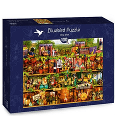 Puzzle 1000 Pcs - Wine Shelf Bluebird