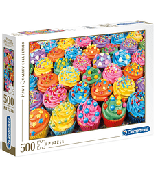 Puzzle 500 Pcs - Colorful Cupcakes Clementoni