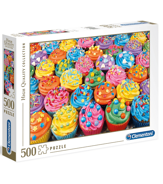 Puzzle 500 Pcs - Colorful Cupcakes Clementoni