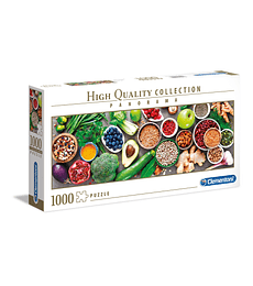 Puzzle 1000 Pcs - Healthy Veggie Clementoni Panorama
