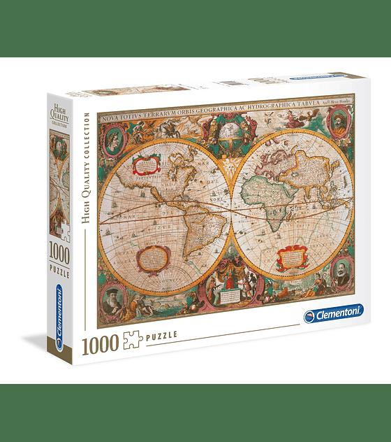 Puzzle 1000 Pcs - Mapa Antigua Clementoni