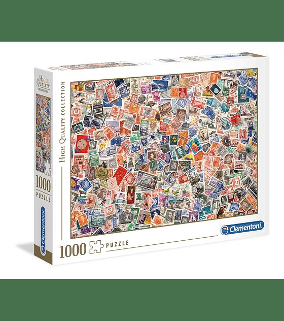 Puzzle 1000 Pcs - Stamp Clementoni