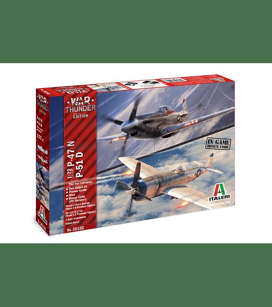ITALERI War Thunder: P-47N / P-51D