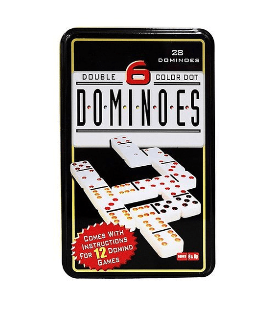 Domino Double 6 Color Dot