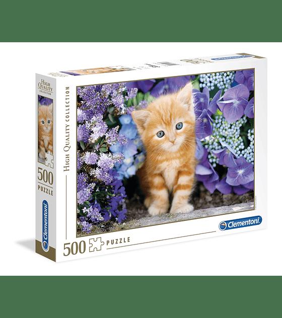Puzzle 500 Pcs - Ginger Cat Clementoni