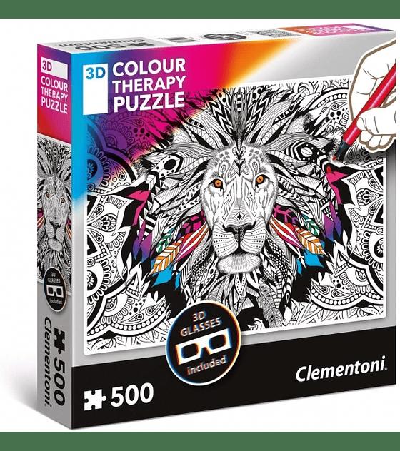 Puzzle 3DCT 500 Pcs - Lion Clementoni