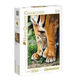 Puzzle 500 Pcs - Bengal Tiger Cub Clementoni