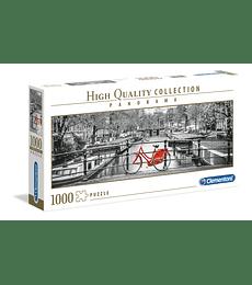 Puzzle 1000 Pcs - Amsterdam Bicycle Clementoni Panorama