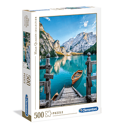 Puzzle 500 Pcs - Braies Lake Clementoni