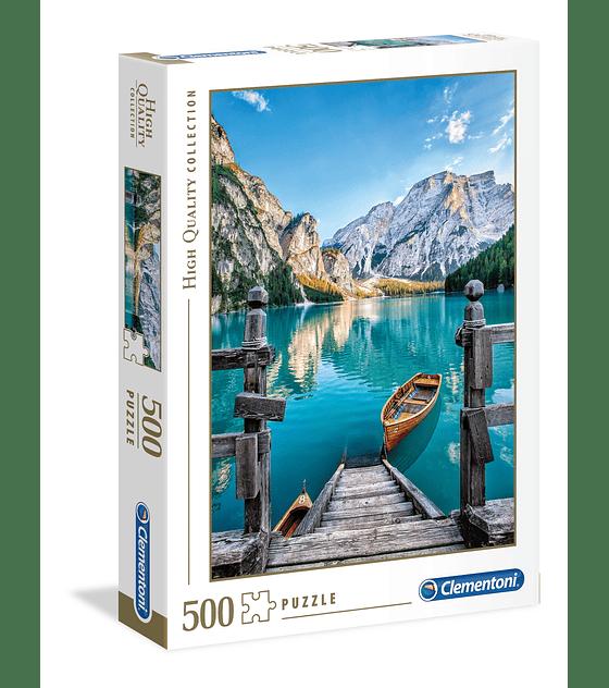 Puzzle 500 Pcs - Braies Lake Clementoni