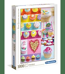 Puzzle 1000 Pcs - Sweet Donuts Clementoni