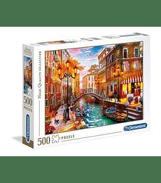 Puzzle 500 Pcs - Sunset Over Venice Clementoni