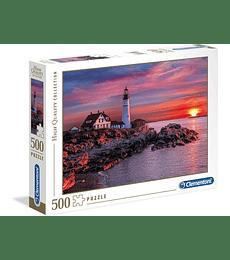 Puzzle 500 Pcs - Portland Head light Clementoni