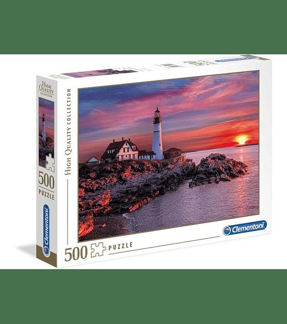 Puzzle Clementoni 500 Piezas PORTLAND HEAD LIGHT