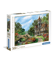 Puzzle 500 Pcs - Old Waterway Cottage Clementoni