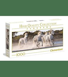 Puzzle 1000 Pcs - Running Horses Clementoni Panorama