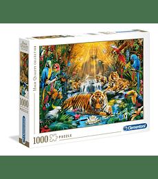 Puzzle 1000 Pcs - Mystic Tigers Clementoni