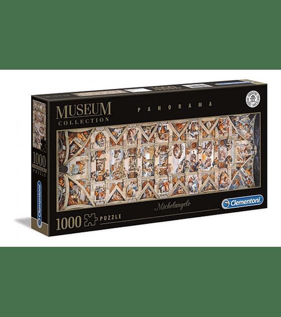Puzzle 1000 Pcs - Michelangelo The Sistine Chapel Clementoni Panorama