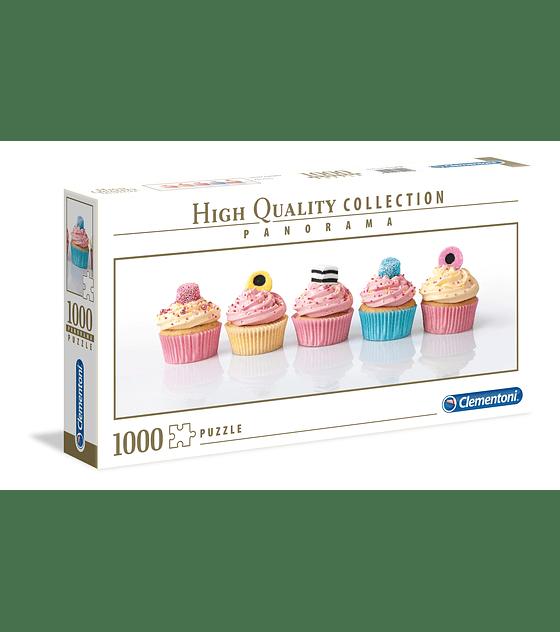 Puzzle 1000 Pcs - Licorice Cupcakes Clementoni Panorama