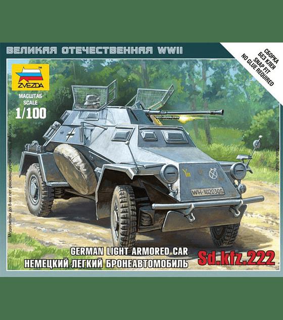 ZVEZDA German Light Armored Car SD.KFZ.222