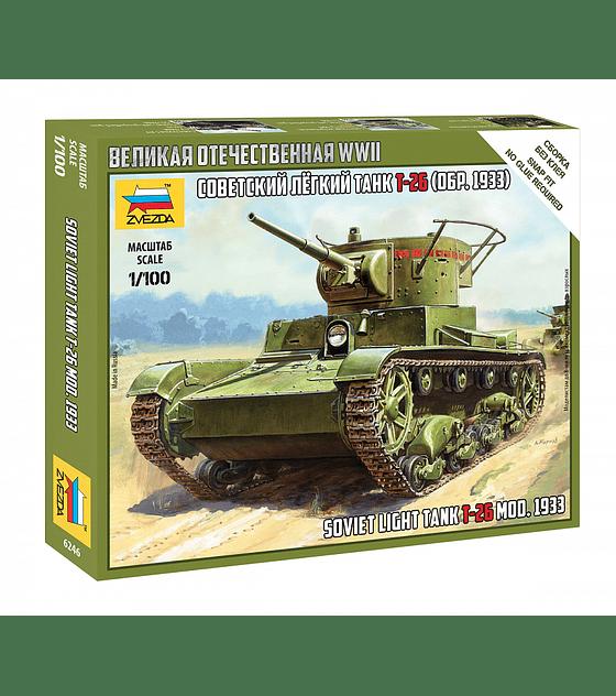 ZVEZDA Soviet Light Tank T-26 (Mod. 1933)