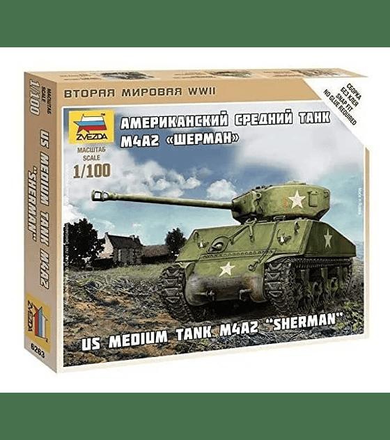 "ZVEZDA US Medium Tank M4A2 ""Sherman"""