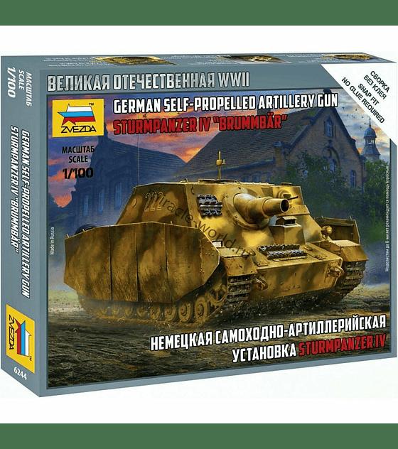 "ZVEZDA German Self-Propelled Artillery Gun Sturmpanzer IV ""BRUMMBAR"""
