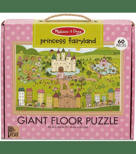 Puzzle de Piso Princess Fairyland 60 Piezas