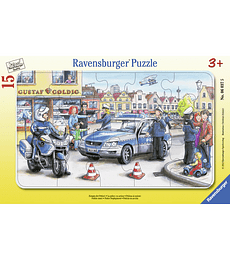 Puzzle 15 Pcs - Policia en Accion Ravensburger