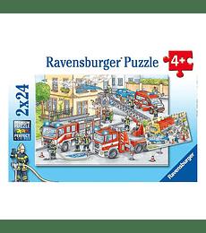 Puzzle 2x24 Heroes en accion - Ravensburger