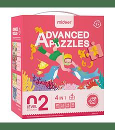 Puzzles Level up 2 4 en 1 Fondo del Mar