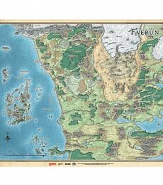 Tapete Mapa de Faerun Español