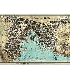 Tapete Mapa de Puerta de Baldur