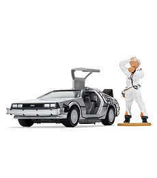 Volver al Futuro DeLorean and Doc Brown Figure