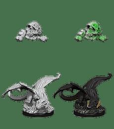 Figura D&D Black Dragon Wyrmling