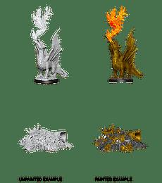 Figura D&D Gold Dragon Wyrmling & Small Treasure Pile