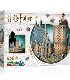 Puzzle 3D 850 Pcs - El Gran Comedor de Hogwarts