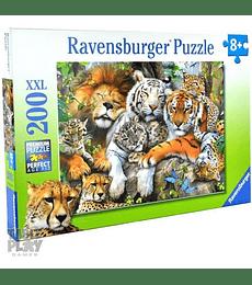 Puzzle 200 XXL Pcs - Big Cat Nap Ravensburger
