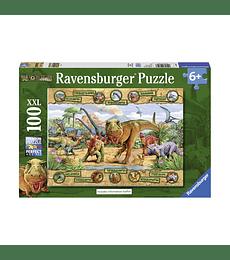 Puzzle 100 XXL Pcs - Dinosaurs Ravensburger