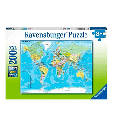 Puzzle 200 Pcs - Map of the World Ravensburger
