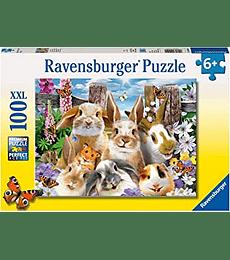 Puzzle 100 XXL Pcs - Rabbit Selfie Ravensburger