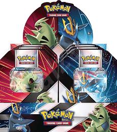 Pokemon Tin Empoleon y Tyranitar V (Español)