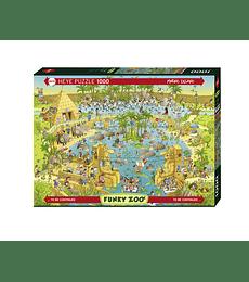 Puzzle 1000 Pcs - Habitat Zoo del Nilo Heye