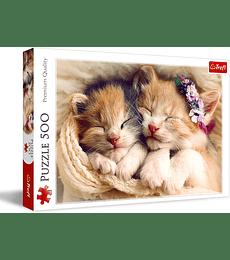 Puzzle Trefl 500 Pcs - Sleeping Kittens