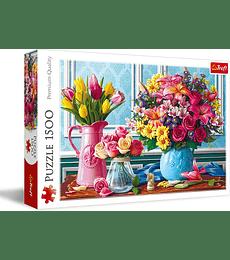 Puzzle Trefl 1500 Pcs - Flowers in Vases
